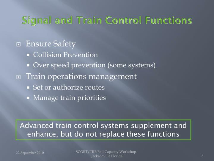 Signal and Train Control Functions