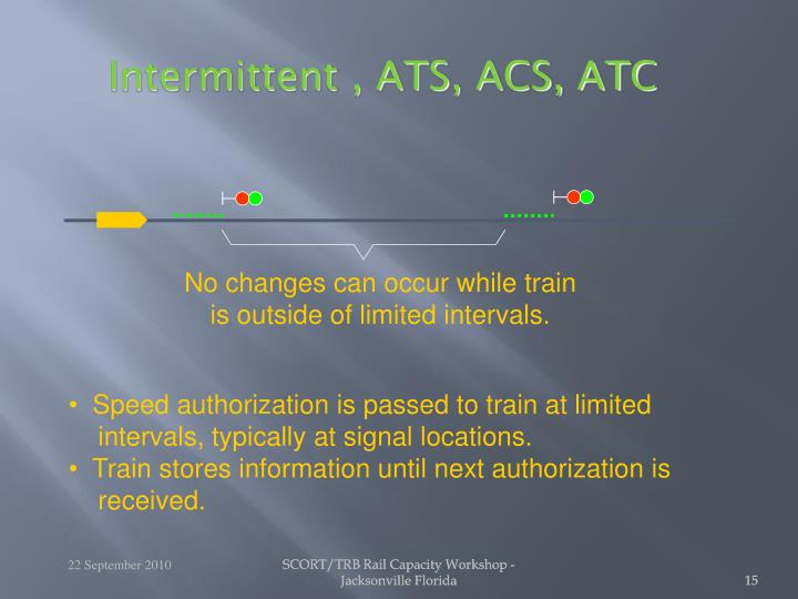 No changes can occur while train
