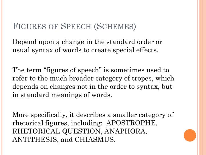 Figures of Speech (Schemes)