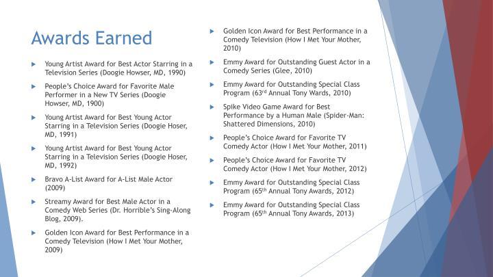 Awards Earned