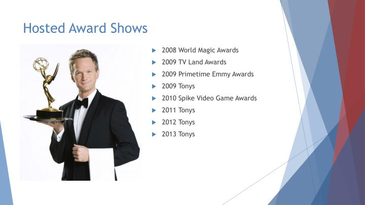 Hosted Award Shows