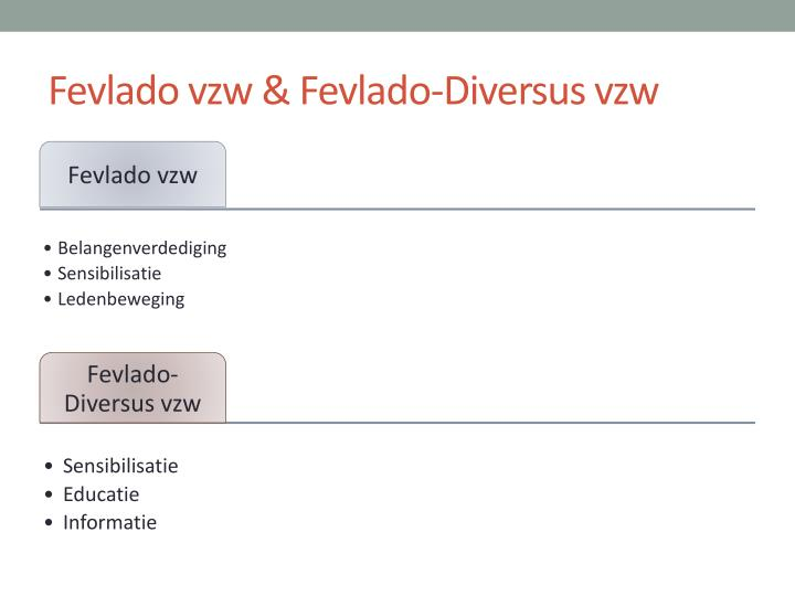 Fevlado vzw & Fevlado-Diversus vzw