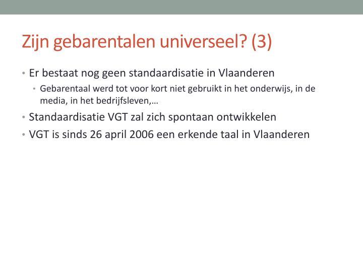 Zijn gebarentalen universeel? (3)