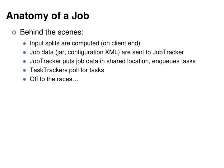 Anatomy of a Job