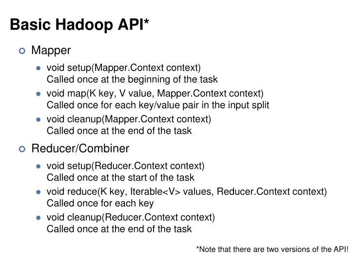 Basic Hadoop API*
