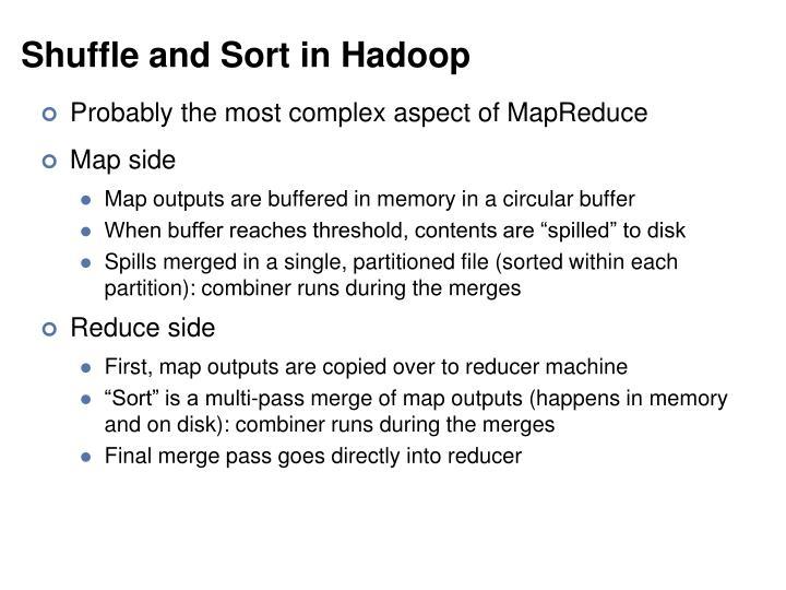 Shuffle and Sort in Hadoop