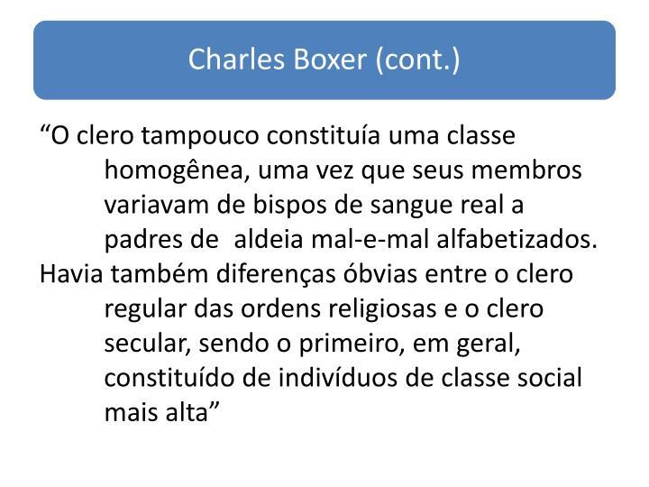 """""""O clero tampouco constituía uma classe"""