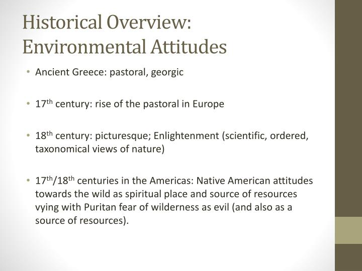 Historical Overview: Environmental Attitudes