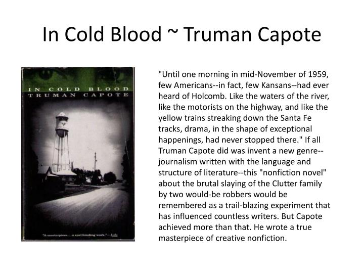 In Cold Blood ~ Truman Capote