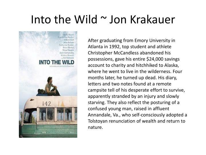 Into the Wild ~ Jon