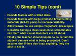 10 simple tips cont