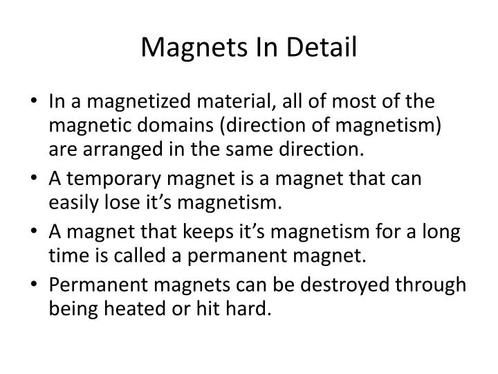 Magnets In Detail