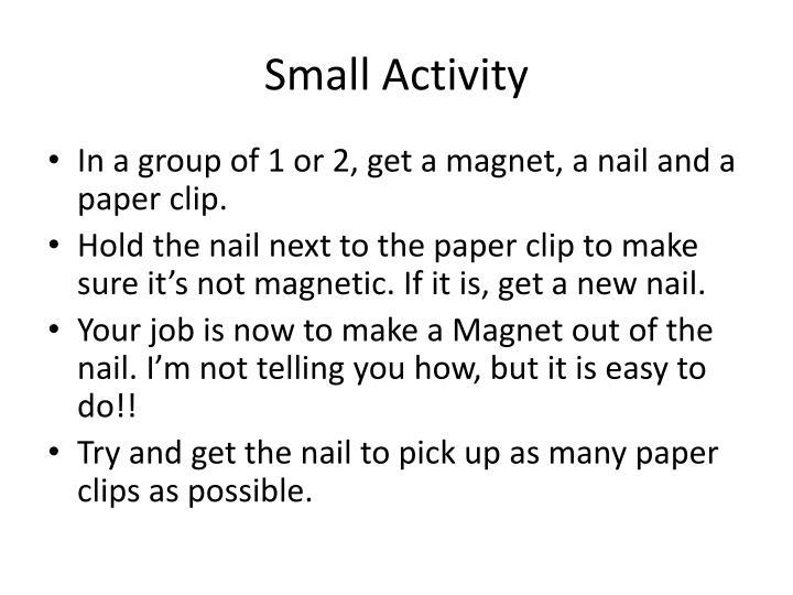 Small Activity