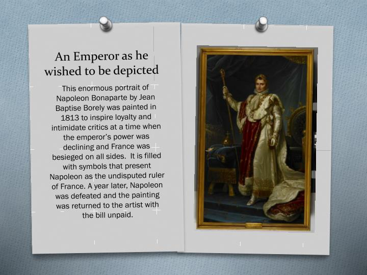 An Emperor as he wished to be depicted