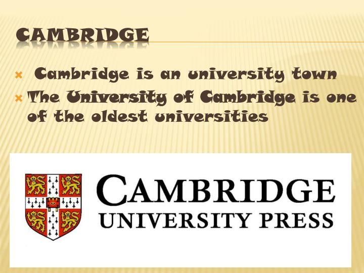 Cambridge is a