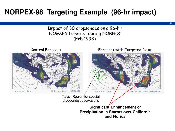 NORPEX-98  Targeting Example  (96-hr impact)