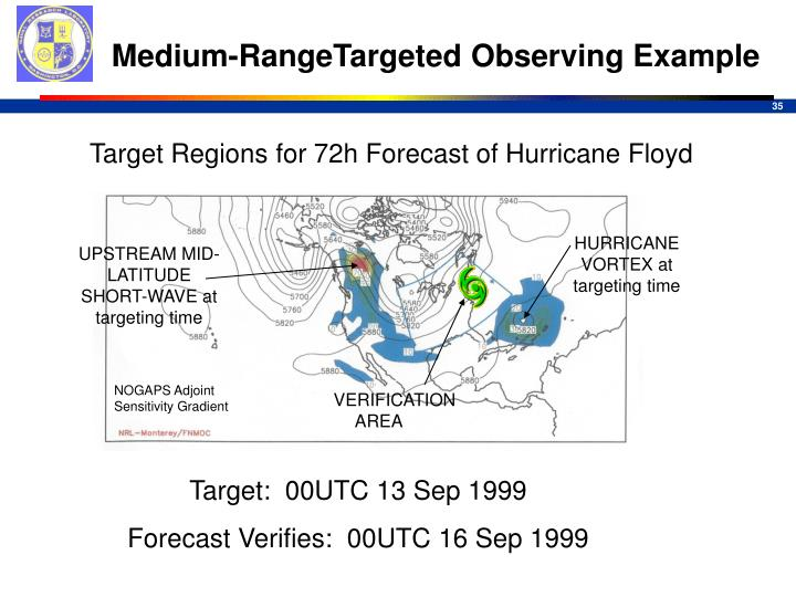 Medium-RangeTargeted Observing Example