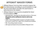 affidavit waiver forms