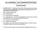 allowable accommodations continued