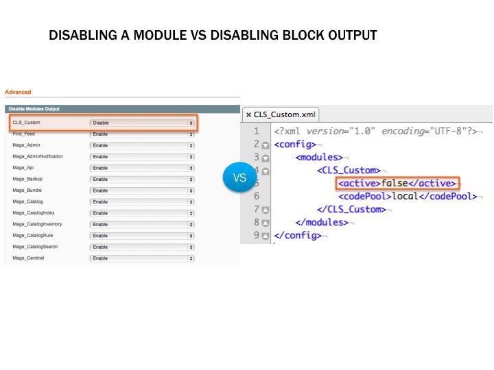 Disabling a module