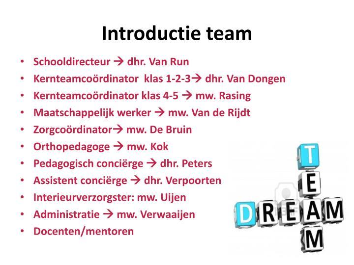 Introductie team