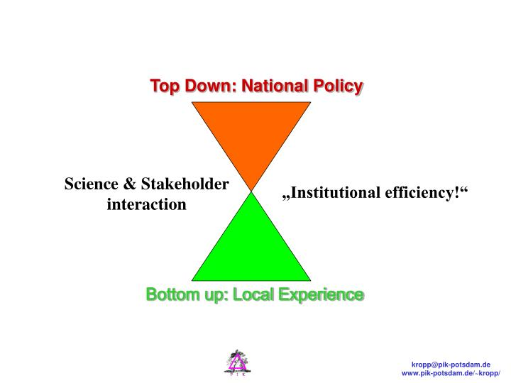 Top Down: National Policy