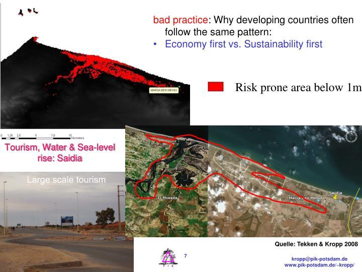 Risk prone area below