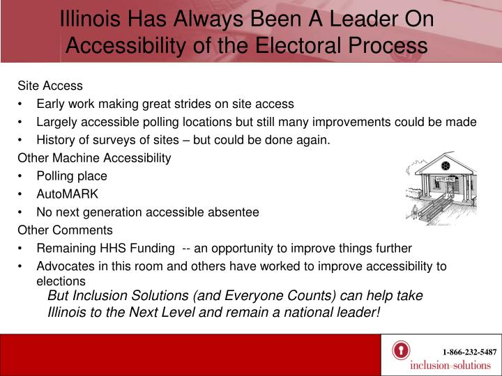 Illinois Has Always Been A Leader On Accessibility of the Electoral Process