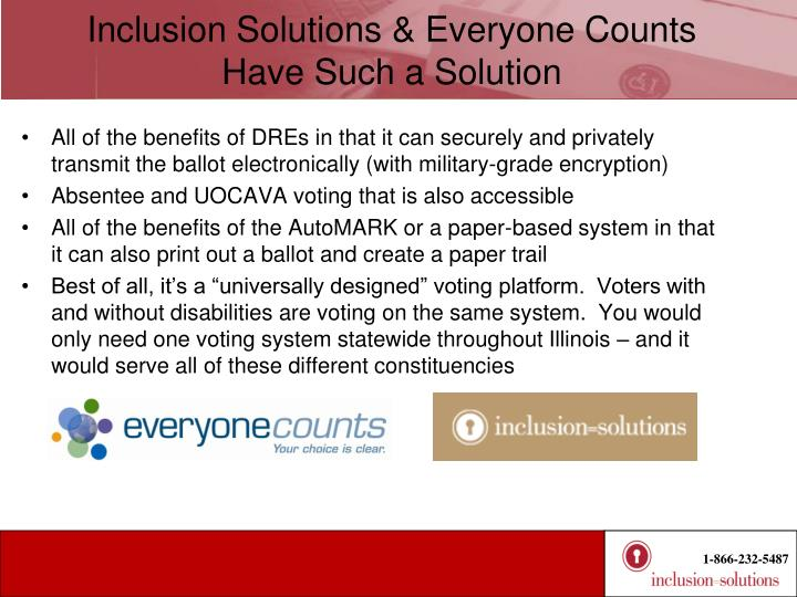 Inclusion Solutions & Everyone Counts Have Such a Solution
