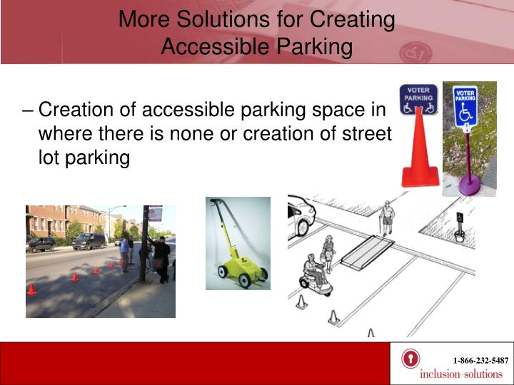 More Solutions for Creating           Accessible Parking
