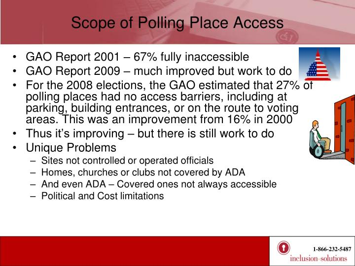 Scope of Polling Place Access