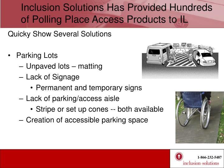 Inclusion Solutions Has Provided Hundreds of Polling Place Access Products to IL