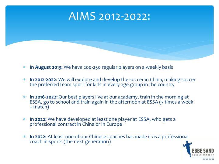 AIMS 2012-2022: