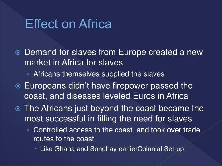 Effect on Africa