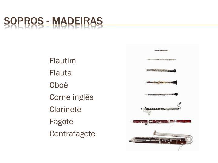 SOPROS - MADEIRAS