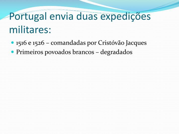 Portugal envia duas expedições militares