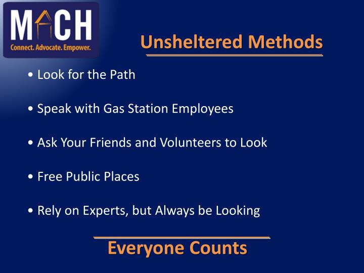 Unsheltered Methods