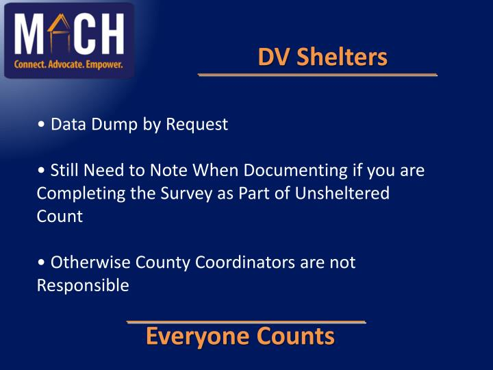 DV Shelters