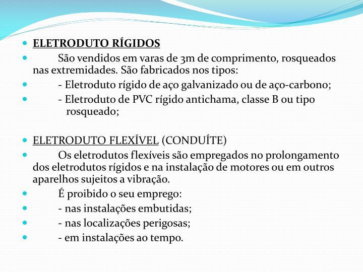 ELETRODUTO RÍGIDOS