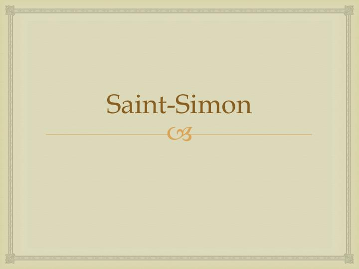 Saint-Simon