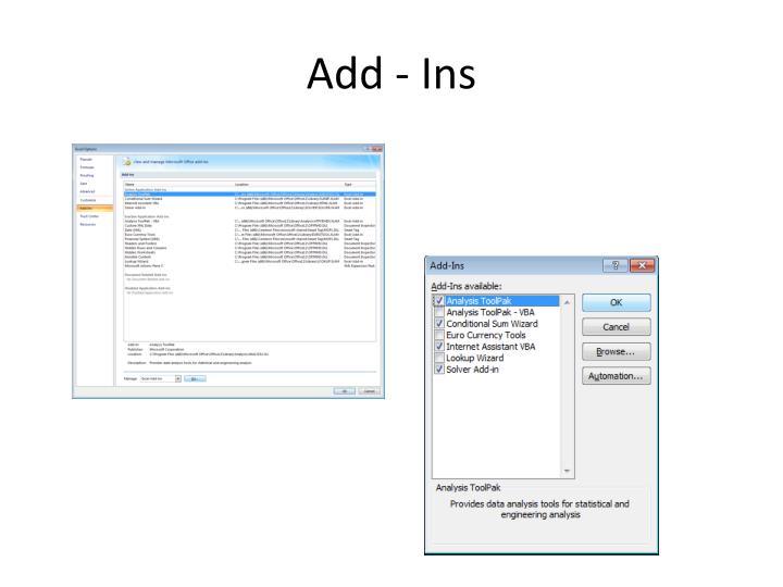 Add - Ins