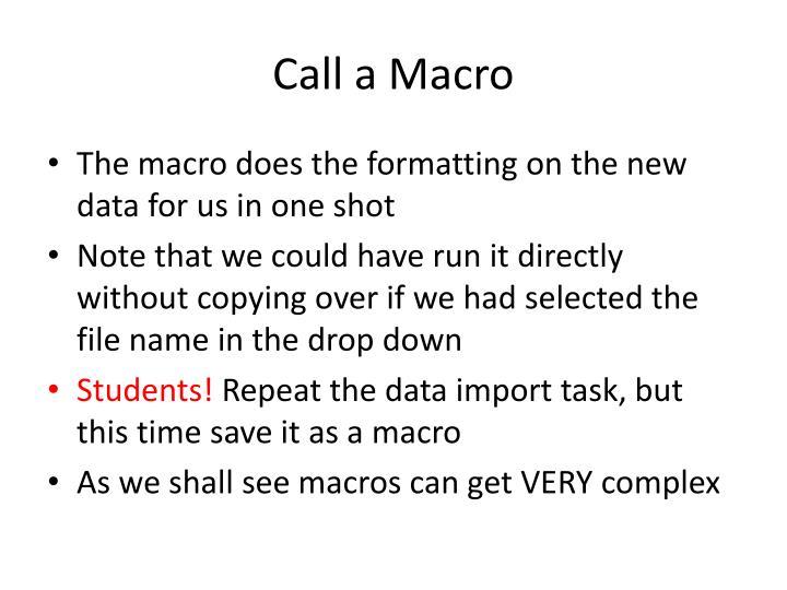Call a Macro