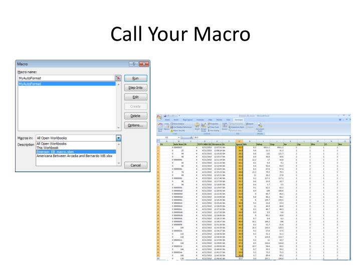 Call Your Macro