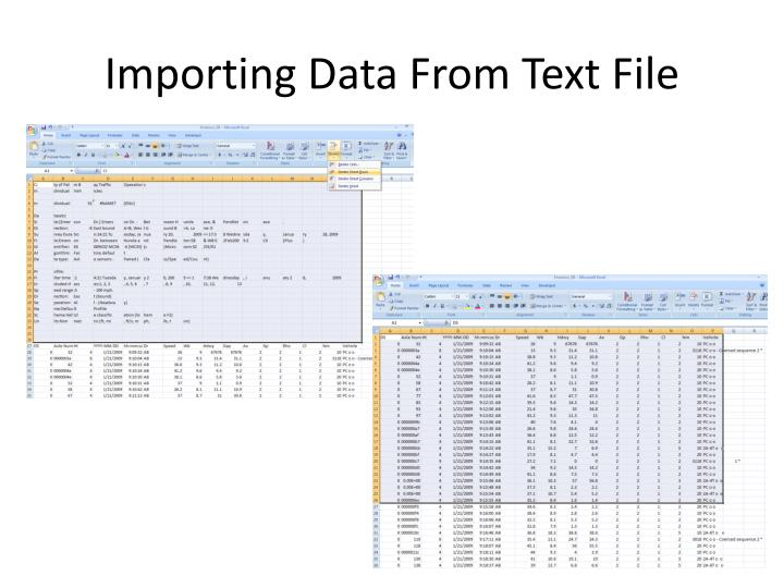 Importing Data From Text File