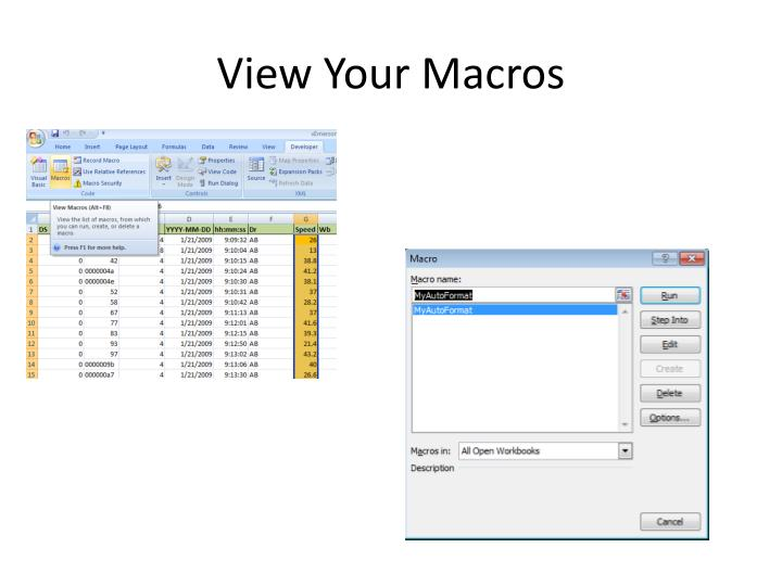 View Your Macros