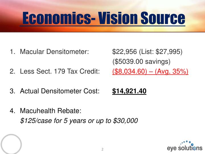Economics- Vision Source