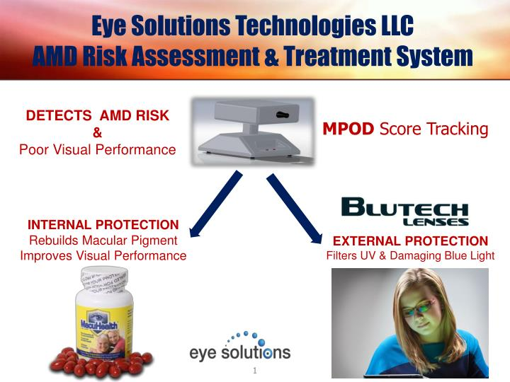 Eye solutions technologies llc amd risk assessment treatment system