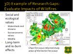3d example of research gaps evaluate impacts of wildfires