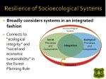 resilience of socioecological systems