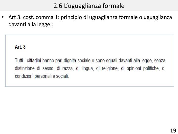 2.6 L'uguaglianza formale